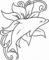 Coloring Dolphin Printable sketch template