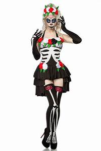 Halloween Skelett Kostüm : karneval halloween damen kost m set mexikanisches skelett ~ Lizthompson.info Haus und Dekorationen