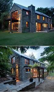 Modern, Stone, House, Design, 2021