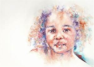 Winsome A Child From Africa Painting by Stephie Butler