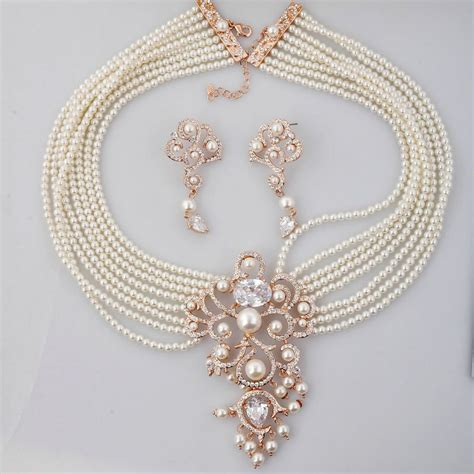 Pearl Wedding Jewelry Sets For Indian Brides 2018 Designs