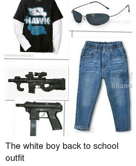 HAWK Com Ilianst the White Boy Back to School Outfit | Funny Meme on me.me