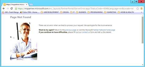 Microsoft Partner Network Website Errors A Rant Bob