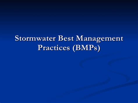 Introduction To Urban Stormwater