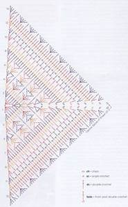 Crochet Triangle Scarf Shawl Pattern Chart