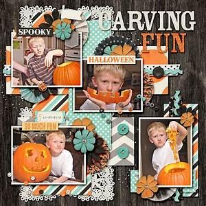 Scrapbooking, Layouts, Scrapbook, Ideas, Fall, Halloween, Pumpkin