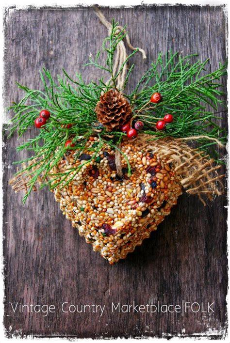 vintage country bird seed wreath by folk artist dee duncan
