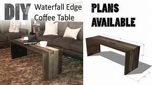 diy waterfall edge coffee table youtube With waterfall edge coffee table