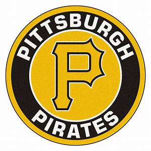 "Pittsburgh Pirates Logo Roundel Mat - 27"" Round Area Rug"