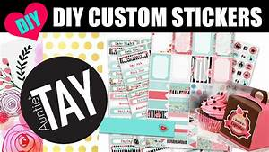 diy custom stickers with the cricut explore air youtube With custom sticker generator