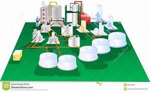Petrochemical Illustration Operation Diagram Stock
