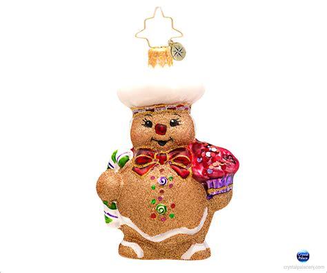 christopher radko ginger baker gem christmas ornament