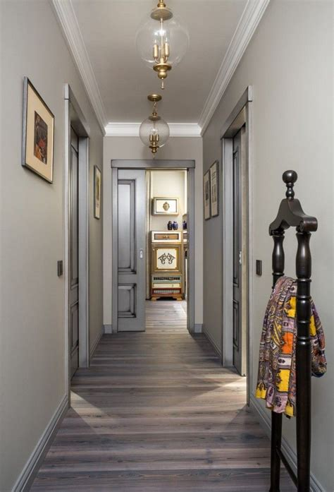 porte manteau entree idee parquet couloir decoration