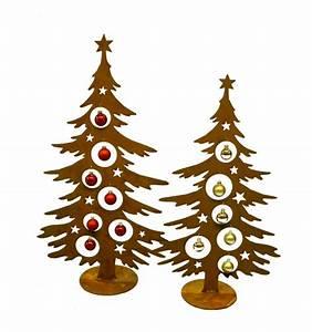 Weihnachtsbaum Aus Draht : edelrost weihnachtsbaum 60 cm hoch f r christbaumkugeln ~ Bigdaddyawards.com Haus und Dekorationen