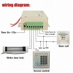 1 Set Electric Door Lock Magnetic Rfid Access Control Id