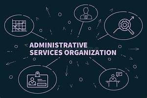 Business Illustration Showing The Concept Of Administrative Services Organization Stock