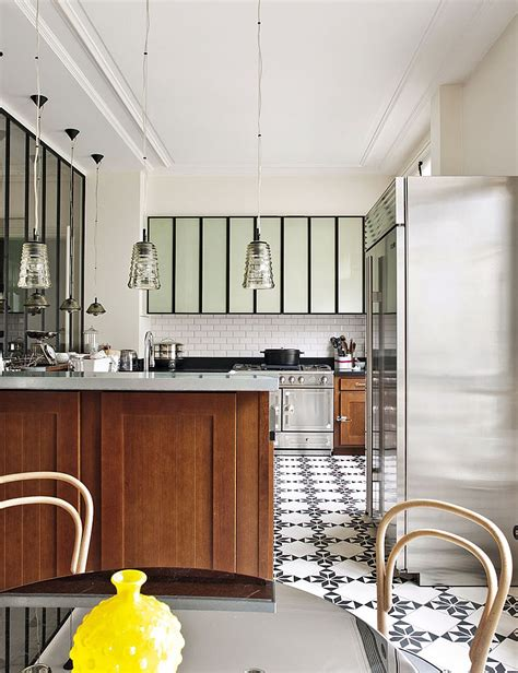 cuisine interiors decorating parisian style chic modern apartment by