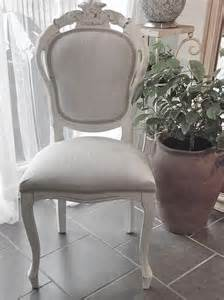 grey linen chair shabby chic style bedroom or dining chair