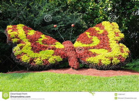 Garden Decoration Free by Butterfly Garden Decoration Royalty Free Stock