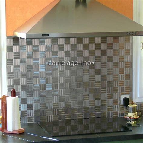 mosaique cuisine plaque mosaique inox crédence cuisine inox sol