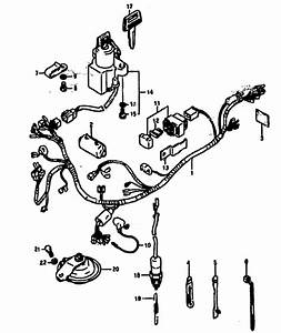 suzuki rg500ch e1 h 1987 1987 wiring harness supplied With wiring harness boot