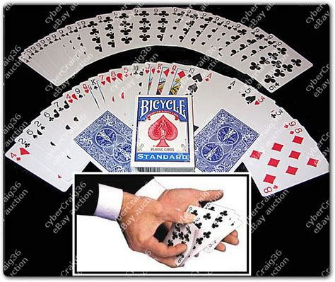 bicycle svengali deck long short playing card magic