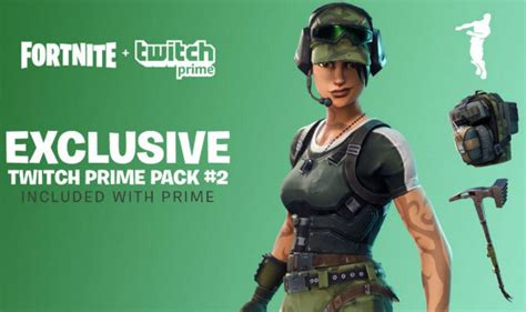 fortnite twitch prime skins update  epic games loot
