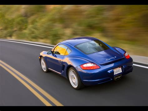 2007 Porsche Cayman S Rear Angle Speed 1920x1440