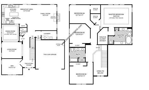 4 bedroom 2 house plans modern open floor house plans two 4 bedroom 2