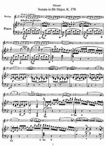 Violin Sonata in B-flat major, K.378/317d (Mozart ...