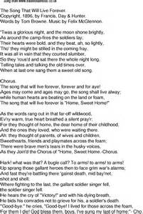time song lyrics for 58 the song that will live forever