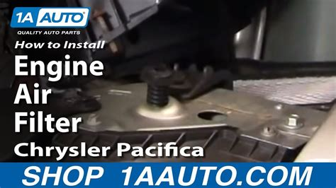 install replace engine air filter chrysler pacifica