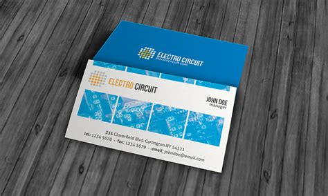 unique electrical business card template