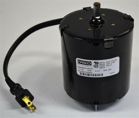 115v Electric Motor fasco u73b1 electric motor 115v 60 hz 2 0 a 1600 rpm 3
