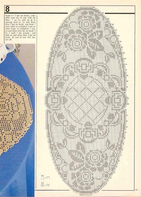 napperon au filet forme ovale avec toutes les grilles grilles gratuites point de