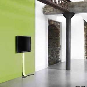 Fixer Une Télé Au Mur : fixer sa tv au mur sans percer 23 10 2012 dkomaison ~ Premium-room.com Idées de Décoration