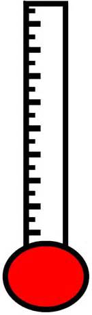 Fundraising Thermometer Template Excel Goal Thermometer Excel Clipart Best