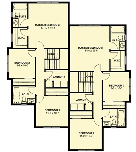 duplex floor plans for narrow lots plan 67718mg duplex house plan for the small narrow lot