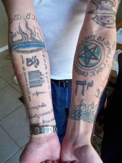 pentagramm tattoo bedeutung und  coole beispiele