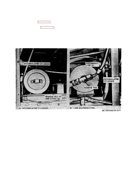 Figure 5-11. Hydraulic brake accumulator cylinder, removal