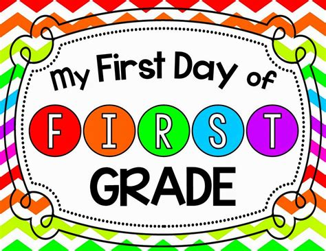 """""""first Day Of First Grade"""" Sign Freebie  Mrs Gilchrist's Class"""