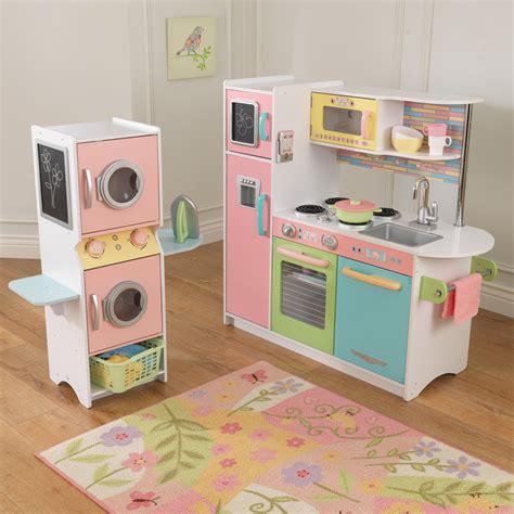 kidkraft uptown pastel play kitchen  laundry playset