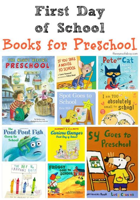 day of school books for preschool great list of 954 | 6d23c684687abc6a16fcd8eafa67f48b