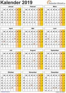 Jahreskalender 2018 2019 : kalender 2019 zum ausdrucken kostenlos ~ Jslefanu.com Haus und Dekorationen
