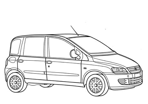 Fiat Panda Kleurplaat by Coloring Pages Coloring Pages Fiat Printable For