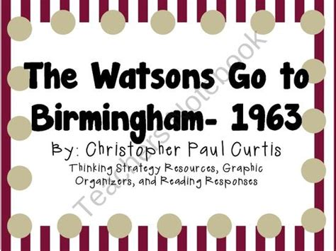 25 Best Images About Reading Watsons Go To Birmingham On