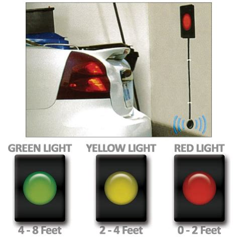 garage parking sensor led traffic light warning signals