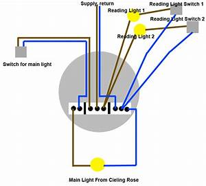 Is this ceiling rose electrical wiring diagram correct for