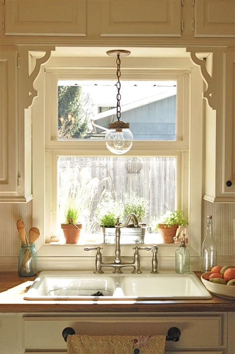 kitchen sink window ideas my kitchen 39 s light fixture thrift