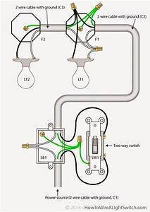 Electrical Engineering World 2 Way Light Switch With Wiring Diagram